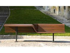 Banco de madeira com encosto SEDIS TORSION Coleção Sedis by Metalco | design Antonio Citterio, Toan Nguyen