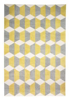 Chiesa Yellow by Suzanne Sharp. Hand knotted Tibetian wool.