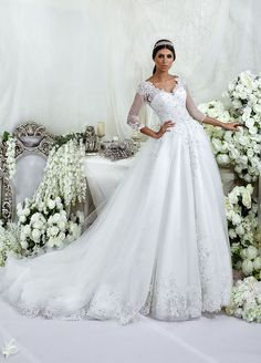 >> Click to Buy << trouwjurk Vestido De Casamento robe de mariage Luxury ball gown custom made bridal gown wedding dresses with sleeves 2017 #Affiliate
