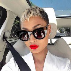 100+ Best Short Pixie Cut Hairstyles For Black Women 2020 Short Sassy Hair, Super Short Hair, Short Hair Cuts, Short Hair Styles, Super Short Pixie Cuts, Best Pixie Cuts, Black Pixie Cut, Blonde Pixie Cuts, Short Blonde