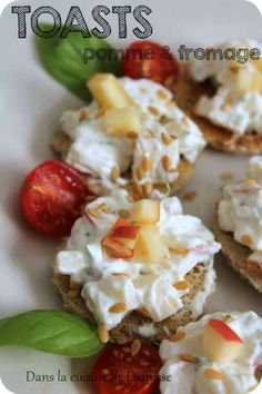 Toasts pomme & fromage