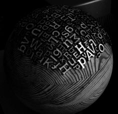ARTIST BOOK / DESIGN BY ERIC CALDERON  A typographic ball that can be used as a printmaking device - ink up and roll across the paper
