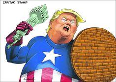 Caricatura Alecus Capitán Trump