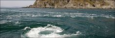 Corryvreckan Maelstrom. A constant whirlpool off the coast of Scotland.
