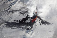 Nearly three months after Tolbachik began erupting, lava continues to flow from the Kamchatkan volcano. Over time, the lava flows change location and shift across the landscape. In this image, infrared data is superimposed on a natural-color image to highlight active flows. The image was collected by the Advanced Land Imager (ALI) aboard the Earth Observing-1 (EO-1) satellite on February 14, 2013.