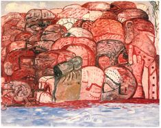 Philip Guston - XIII. Group in Sea, 1979. Oil on canvas, 68 × 88½ in.