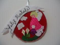 MissFelicidade Lembrancinhas: Um enfeite de natal com anjinho de feltro e tecido...