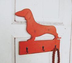 dodatki - wieszaki-wieszak na smycz JAMNIK Garderoba dla psa