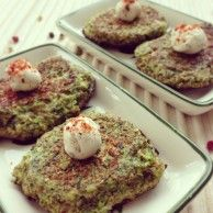 Zuchini Broccoli Patties...crispy warm delish patties that are vegetarian and healthy.