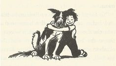 Ramona ran to Ribsy, dropped to her knees even though the ground was wet &… Ramona Quimby, Beverly Cleary, Children's Book Illustration, Book Illustrations, Vintage Children, Zine, Childrens Books, My Books, Childhood