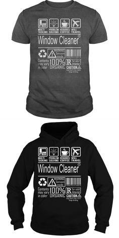 Window Cleaner Job Title Tshirt/Hoodie.  Guys Tee Hoodie Ladies Tee Window Cleaning T Shirt Window Cleaning T Shirt Printing Professional Window Cleaning T Shirts Window Cleaning T Shirts