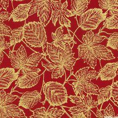 Autumn Elegance - Maple & Elm Shimmer - Rust Red/Gold
