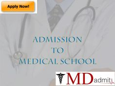 Mdadmit offer their consultation on various grounds regarding the procedure of getting admission into a medical school.