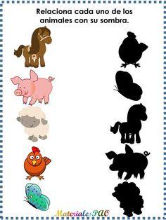 Trabajamos la atención con siluetas de animales -Orientacion Andujar