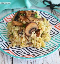 Aprende a preparar un delicioso y fácil risotto de hongos. Con fotos del paso a paso y consejos de degustación