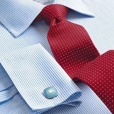 Sky bengal stripe non-iron Slim fit shirt