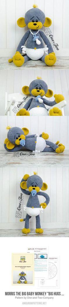 """Morris The Big Baby Monkey """"Big Hugs Series"""" Amigurumi Pattern"""