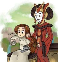 A mother-daughter moment between Padmé and Leia. Star Wars Rebels, Star Wars Clone Wars, Star Trek, Star Wars Love, Star Wars Fan Art, Star War 3, Pixar, Star Wars Brasil, Images Star Wars