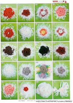 Схемы вязания разнообразных цветов - Вязание - Страна Мам