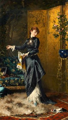 View The Playfull Kitten by Conrad Kiesel on artnet. Browse upcoming and past auction lots by Conrad Kiesel. Victorian Paintings, Victorian Art, Classic Paintings, Beautiful Paintings, Kiesel, Traditional Paintings, Classical Art, Historical Costume, Woman Painting