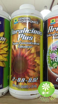 Floralicious Plus es un bio-estimulador vegano de plantas y aditivo nutricional que puede ser utilizado en todo el ciclo de la planta, contiene altas concentraciones de vitaminas, azúcares complejos, amino ácidos, fito estimulantes, poliflavonoides y aceites aromáticos en una base fúlvico orgánica.   Visita nuestra página www.elmundoverde.mx en donde encontrarás los productos de la mejor calidad para tus cultivos de interior y de exterior.