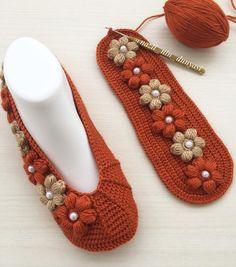 Best 11 my beautiful booties ( Crochet Boots, Crochet Slippers, Knit Crochet, Cheap Flip Flops, Bed Socks, Hand Embroidery Flowers, Crochet Borders, Beautiful Crochet, Flower Making