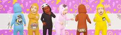 Sims 4 CC's - The Best: Overwatch-themed onesies for toddlers by Valhallan...