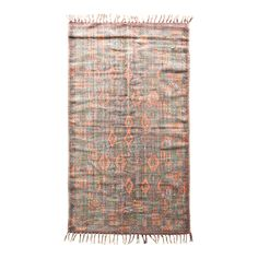 45052a 3.0 x 5.0 - Mohr & McPherson 3.0 x 5.0 multi colored cotton dhurrie with printed kilim inspired design.