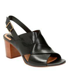 Look at this #zulilyfind! Clarks Black Ralene Vive Leather Sandal by Clarks #zulilyfinds