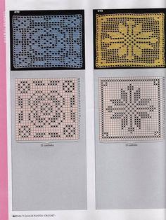 View album on Yandex. Filet Crochet, Manta Crochet, Crochet Squares, Doilies, Handicraft, Album, Knitting, Hat Patterns, Pucci