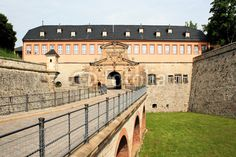 Entrance bridge of the stronghold Petersberg in Erfurt Thuringia.