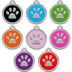 CNATTAGS Personalized Engraved Designers Round Paw Pet ID Tag Dog Tag Cat Tag ** You can get additional details at the image link. (This is an affiliate link and I receive a commission for the sales)