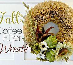 Autumn Coffee Filter Wreath