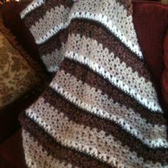 Cozy crochet afghan!