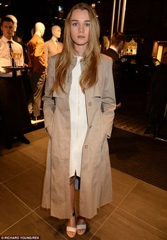Stepping out: Immy Waterhouse looks chic at the BOSS store launch in London. Imogen Waterhouse, Immy Waterhouse, Looks Chic, Bond Street, Bradley Cooper, Young Models, Celebs, Celebrities, Hugo Boss