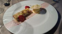 pistachio custard   ... with vanilla custard glacé, almond tuile, pistachios and fresh straw