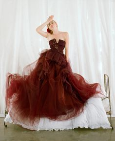 Colored Wedding Gown