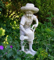 Boy Watering Garden Statue   Photo From Garden Ornaments Direct