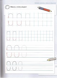 DIFER Fejleszt fzetek rs Preschool Writing, Kids Learning, Worksheets, Bullet Journal, Armin, Writing, Preschool, Education, Literacy Centers