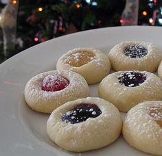 Thumbprint Cookies - easiest recipe ever - Amanda's Cookin'