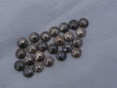 Antique Marcasite 7mm glass nailhead bead by Frenchsteelbeadshop, $6.50