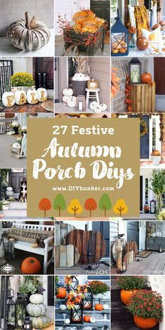 Fall Porch Decor   Want the best inspiration for porch decor for fall? Get your home ready for autumn with these cute DIY decoration ideas!  #fall #falldecor #decor #porchdecor