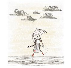i am Lil: Scrumdiddly Sketch Day 10 - Rainy fun