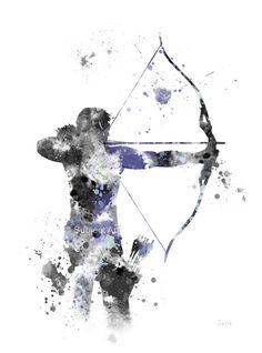 Ilustración de lámina de Hawkeye, superhéroes, Marvel, Vengadores, Home Decor, arte de la pared,