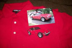 Spitfire car picture transfer to a shirt