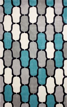 Keno ACR208 Teal Rug | Contemporary Rugs
