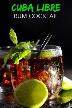 The Cuba Libre cocktail isn't just rum and Coke with lime. Learn how it got its name in Cuba, you'll be surprised who named it. Cuba Libre Drink, Cuba Libre Cocktail, Cuba Libre Recipe, Cocktail Party Food, Cocktail Drinks, Cocktail Recipes, Cocktail Ideas, Coke Recipes, Alcohol Drink Recipes