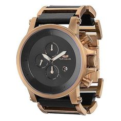 Vestal Plexi Watch featuring polyvore, men's fashion, men's jewelry, men's watches and rose gold black