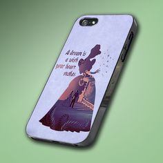 Cinderella Quote Disney - Hard Case Made From Plastic or Rubber - For iPhone 4/4s, 5, 5c, 5s, iPod 4, 5, Samsung S3, S4 on Etsy, $14.89