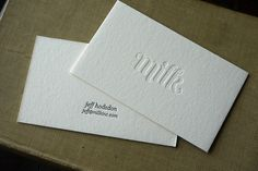 business card. embossed logo.